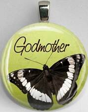 Handmade Interchangeable Magnetic Godmother Butterfly #20 Pendant Necklace