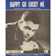 PAUL EVANS Happy Go Lucky Me SHEET MUSIC UK 4 Page Sheet Music