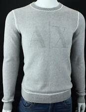 Armani Exchange A|X Mens Logo Crewneck Waffle Thermal Graphic Knit Top NWT