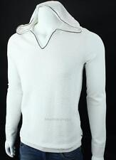 Armani Exchange A X Mens Textured Hooded V Neck Logo Sweater NWT