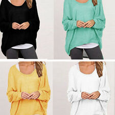 New Women Ladies Oversized Long Sleeve Top Blouse Loose Baggy Batwing Jumper Top