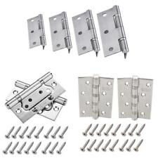 1 Pair Stainless Steel Fire Door Butt Hinge Heavy Duty Fixed Pin Polished Finish