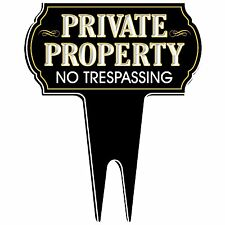 Signs Authority Private Property No Trespassing Metal Yard Sign Weatherproof
