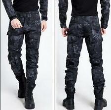 Hot Mens Military Trousers Camo Combat Army Cargo Outdoor Trousers Pocket Pants