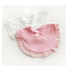 Baby Bibs Bandana Bibs Burp Cotton Bib Baby Lace Bow Infant Saliva Towels