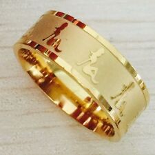 NEW Pretty Sexy Lady Girl Women Gold Ring Band Wrap Stainless Steel Men Gift