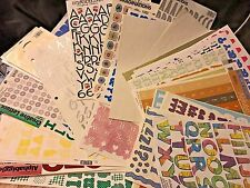 Creative Memories Making Memories ProvoCraft & More Alphabet Stickers You Choose