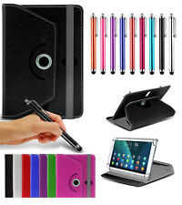 """For Archos 101b Xenon (10.1"""") Tablet Case Cover 360 Rotating Stand Wallets + Pen"""