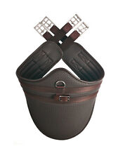 HyCOMFORT Waffle Stud Girth Brown Or Black - Horse/Pony Tack/Saddles