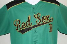 Boston Red Sox Jersey Button  Genuine Authentic MLB Embroided True Fan Green