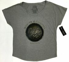 Game Of Thrones STARK SEAL WINTER IS COMING Dolman Women's T-Shirt NWT Licensed