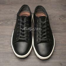 Mens teen casual leather lace up athletic sneakers shoes stylish