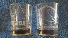 NRL/Rugby League Glass Etched Weighted Spirit Glasses