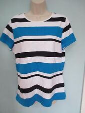NWT Misses Size XLarge Shirt, Top by CHAPS, Striped, Short Sleeves
