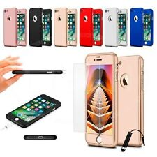 For Apple iPhone 6 (4.7 inch) 360 Hard Case Full Cover Dual Layer w/ GLASS & Min