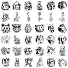 Fashion European Sterling Animal 925 Silver Charms Bead for Lot Bracelet Chain