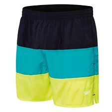 Speedo MENS PANEL LEISURE SWIM SHORTS,AQUA/GREEN*AUS Brand-Small,Medium Or Large