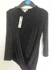 BNWT River Island Black Sparkly Top - Ready for the XMAS parties Age 3-12 Years