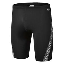 Speedo MENS MONOGRAM WATERBOY SWIM SHORTS Black/White*AUS Brand-Size 16,18 Or 20
