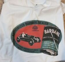 Men's White Military Green Vintage Bardahl Motor Oil Can Tee T Shirt L XL New 2X