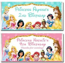 10 x Disney Princess Personalised Chocolate Bar Wrappers