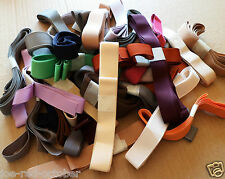 5m GROSGRAIN RIBBON 22mm & 25mm assorted GREEN shades. High Quality.