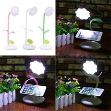 LED Flexible USB Reading Light Bed Table Desk Lamp Book Light with Phone Holder