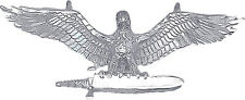 Sterling Silver Eagle Charm with Sword Charm Pendant Necklace Diamond Cut Finish