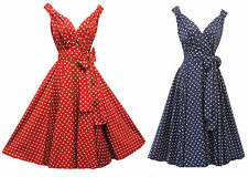 New Rosa Rosa Vintage 1950s style Polka Dot Summer Party Prom Swing  dress