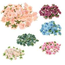 50pcs Silk Peony Artificial Bridal Clips Decor Fake Flower Heads 6 Colors