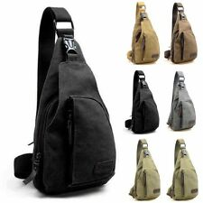 Mens Shoulder Bag Military Canvas Satchel Travel Hiking Backpack Messenger Bag b