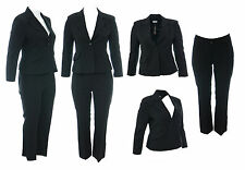Womens New Black Lined Blazer With Trouser Suit Bnwt Ladies Size 14 16 18 20