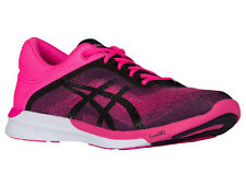 NEW WOMENS ASICS GEL FUZEX RUSH RUNNING SHOES TRAINERS HOT PINK / BLACK / WHITE