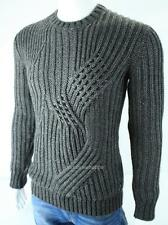 Armani Exchange A|X Mens Chunky Cable Knit Crew Pullover Wool Sweater NWT $150