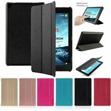 Slim Flip Leather Stand Case Cover Auto Sleep/Wake For Amazon All-New Fire HD 8