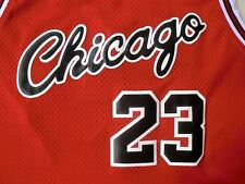 MICHAEL JORDAN # 23 BULLS red Basketball Retro Throwback red