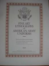 Fine Art Lithographs of American Army Uniforms Arthur Barbosa