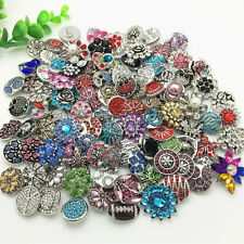 3D Rhinestone Drill Snaps Chunk Charm Button Fit For Noosa Bracelet Pendant UK