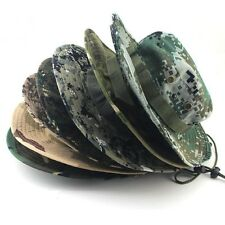 Hat Widr Brim Hunting Camping Fishing Military Camouflage Boonie Cap Bucket Hat