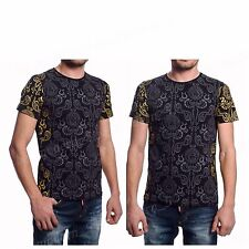 Men's Medusa Print Versace T-shirt Top Short Sleeve Black Color S M L XL XXL