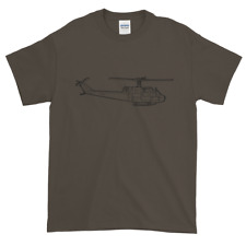 KillerBeeMoto:  Bell UH-1 Iroquois Helicopter Olive Drab T-Shirt