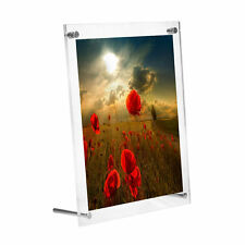 Clear Acrylic Photo Frame Home Office Desk Top&Wall Photo Picture Display Frame