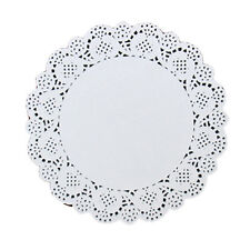 Set of 120 Pieces White Paper Doilies Cake Packaging Paper Pad