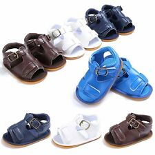 0-18M Baby Infant Kid Boy Girl Soft Sole Crib Toddler Summer Boys Sandals Shoes