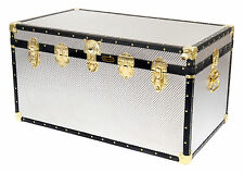 British Mossman Made Traditional Boarding School Large Cabin Luggage Trunks
