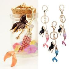 Crystal Beauty Mermaid Keyring Charm Keychain Pendant Girl Gifts Purse Bag Decor