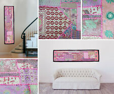 Wall Hanging Vintage Bohemian Indian Handmade Embroidered Patchwork Tapestry