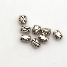100/200/500/1000 Pcs Jewelry Oval Tibetan Silver Charms Findings Spacer Beads