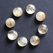6MM Round Shape, Golden Rutile, Calibrated Cabochons, AG-225