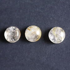 15MM Round Shape, Golden Rutile Calibrated Cabochons AG-225